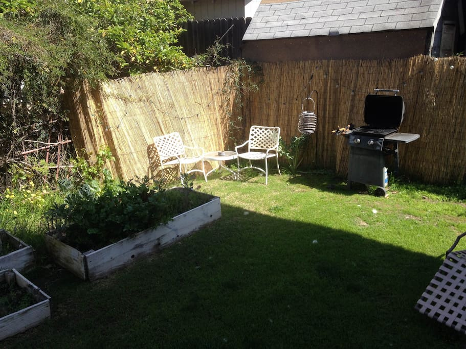 Great backyard garden with grill!
