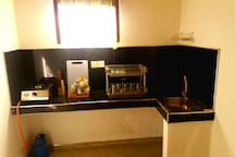Kitchen is Fully equipped with kitchen appliances