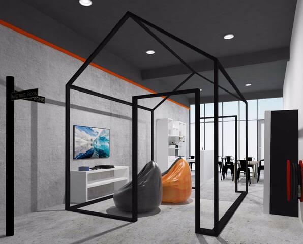 JL Co-Living + Co-Working. FREE facilities + Wi-Fi