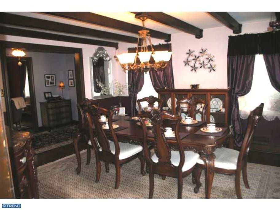 Airy formal dining room