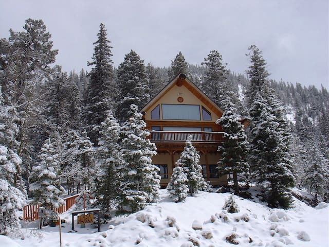 Beautiful Taos Ski Valley Log Home - Taos Ski Valley - Casa