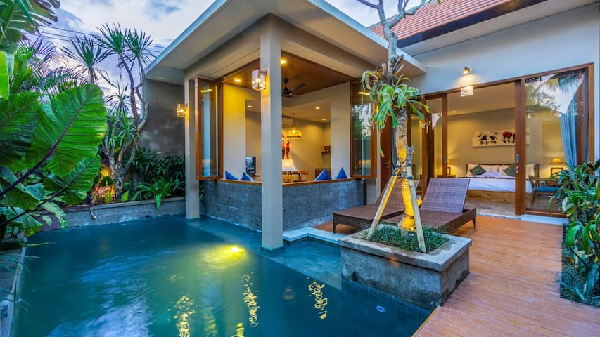 Modern Romantic Pool Villa with Breakfast & Staff