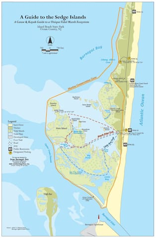 Island beach conservation zone, great for kayaking