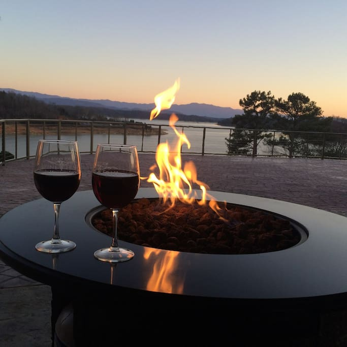 nightly view from the patio firepit
