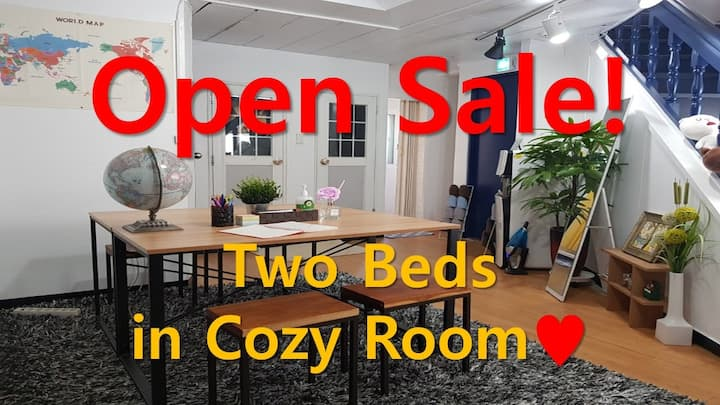 302♡Cozy&Neat For 3~4 Persons♡Terrace♡Dongdaemun