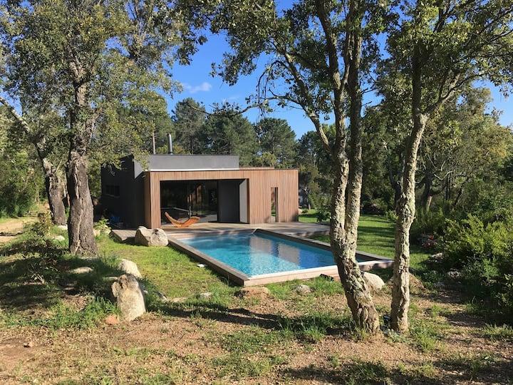 Villa contemporaine charme tranquilité du maquis