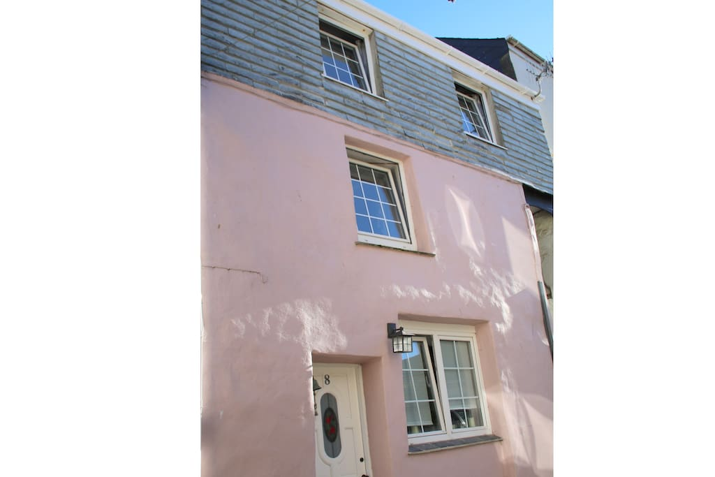 The house is a former fisherman's cottage tucked into a narrow street