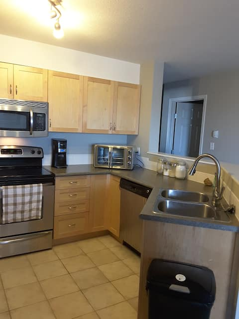 Private, spacious 1 bdrm, 2 full bath condo