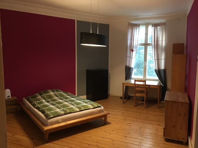 Lovely, spacious, quiet room in 19th. cent. apt. - Berlín - Departamento