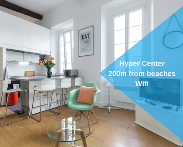 ★NICELIDAYS★1Bed★HyperCenter★Beach at 200m