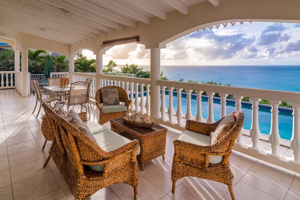 Terrace at Villa Canoua