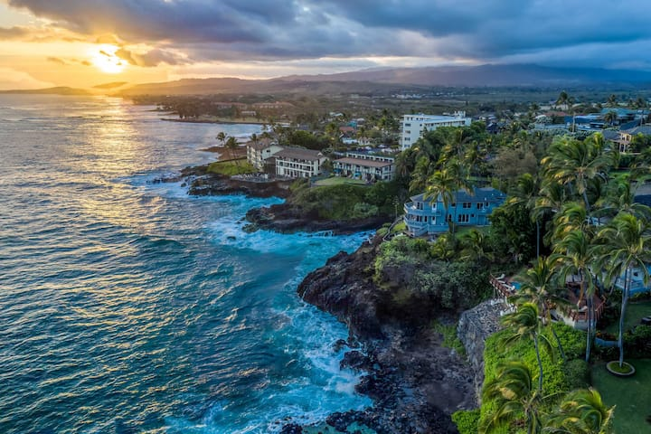 Hale Moku: Panoramic Oceanfront Experience Spacious Two-Story Home Overlooking Kauai's South Shore