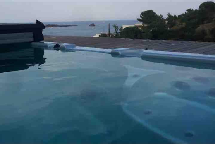 Mini piscina riscaldata
