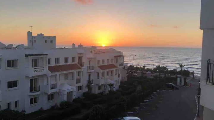 Beach view apartment, Dar Bouazza, Casablanca.