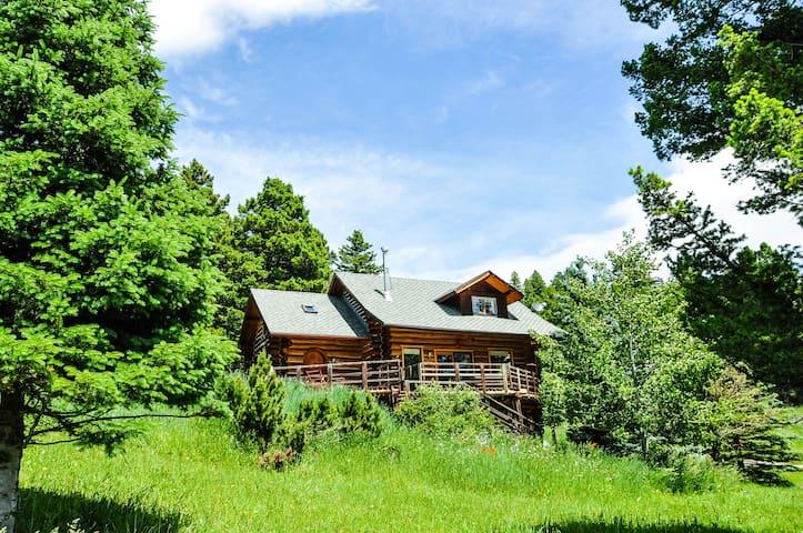 Bozeman Cabin in the Mountains by Bridger Bowl Ski - Bozeman - Houten huisje