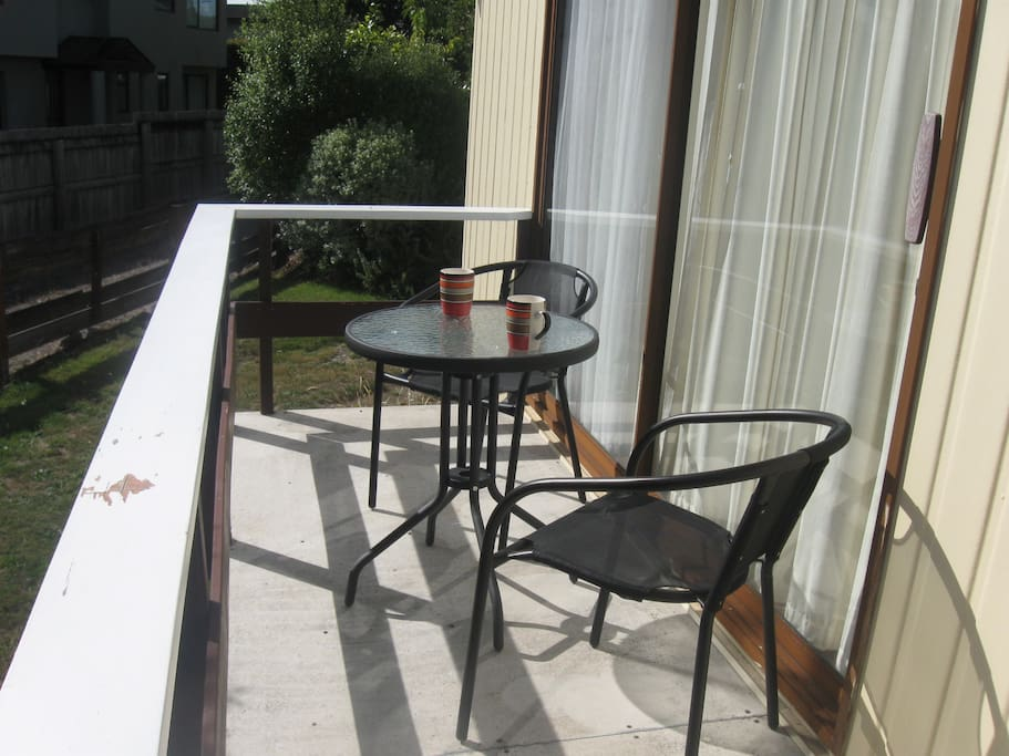 Sunny deck area for those morning  coffees