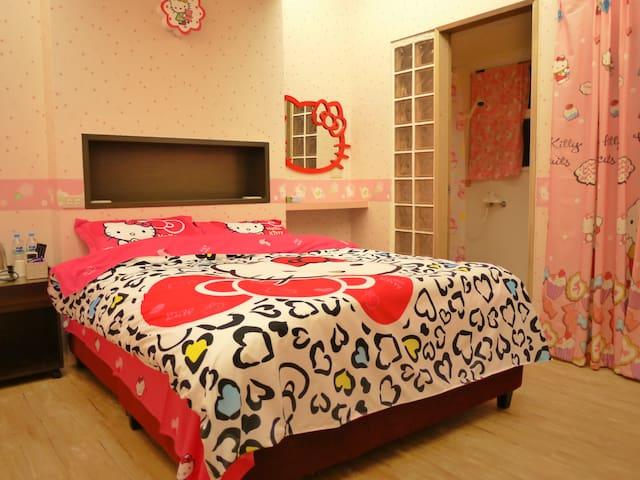 粉紅貓月租套房