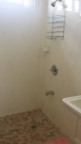clean bathroom and shower