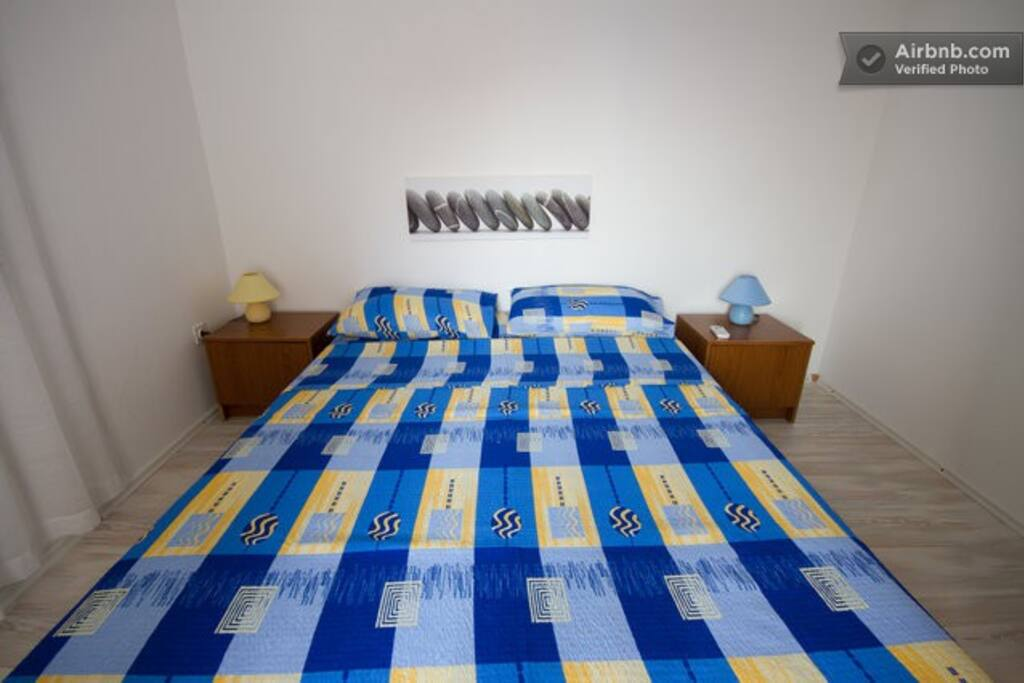 Bedroom 1 with terrace - Comfortable double bed