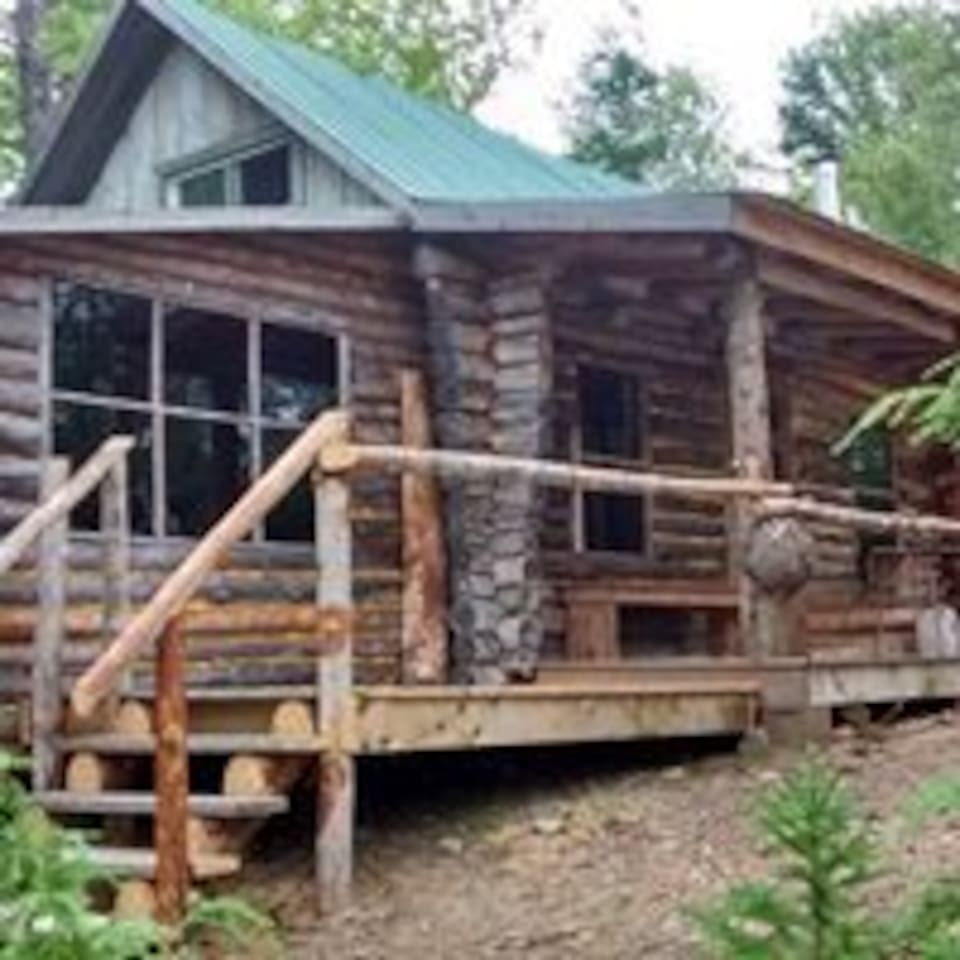 The front of the Shack has a Sun deck and a covered deck.