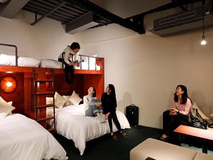 3mins->Suehirocho/Family Room