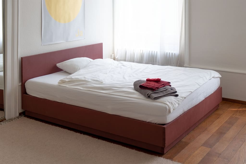 … with double bed (160cm x 200cm)