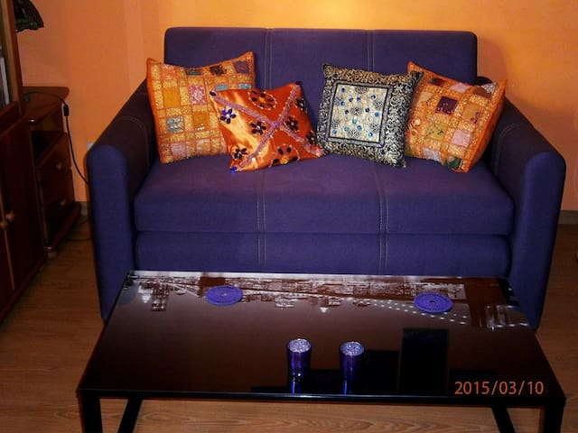 My new sofa. Size 135x210 you open it vertically as you can see on the next picture