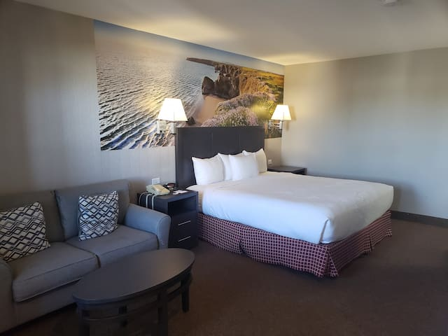 Rare two room suite with separate entrances.