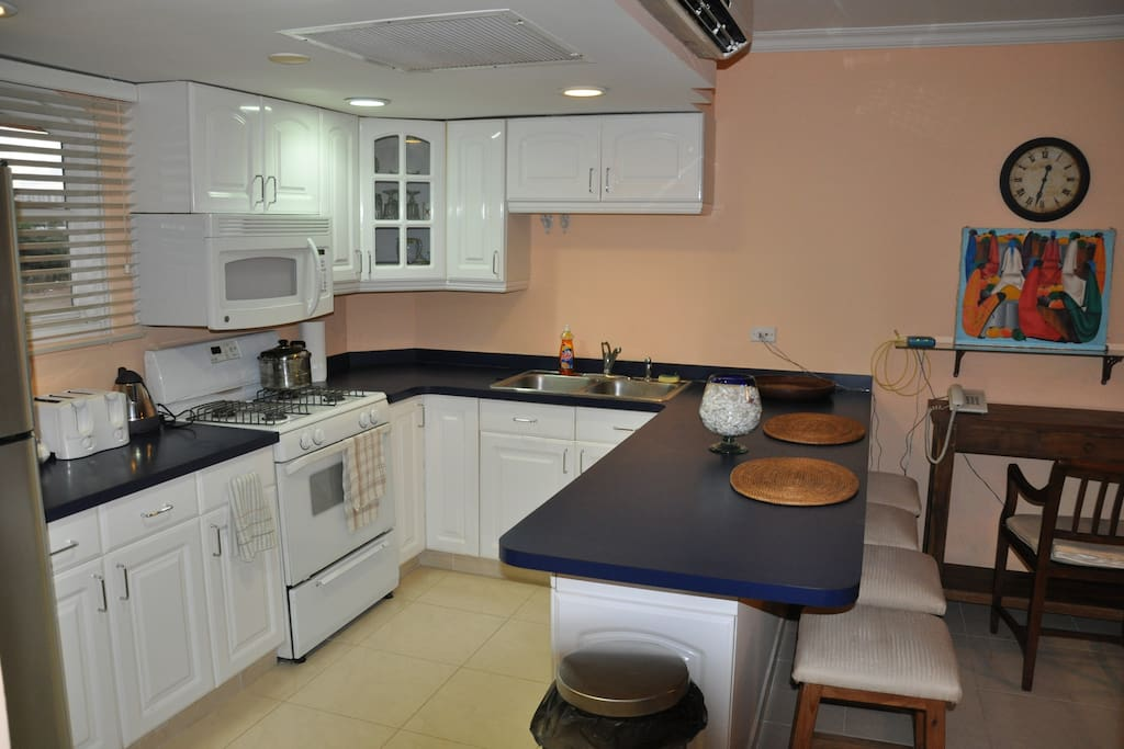 LARGE KITCHEN AREA WITH FULL SIZE APPLIANCES