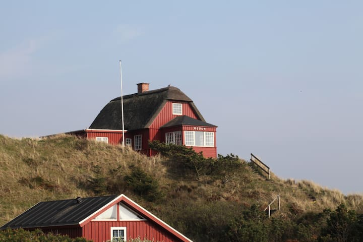 Historical West Coast Panorama  - Vejers Strand - Hus