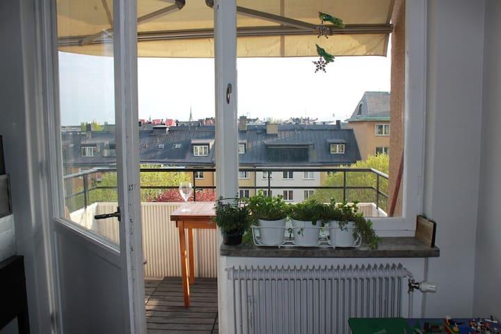 4 room sunny appartment w cityview - Stockholm - Leilighet