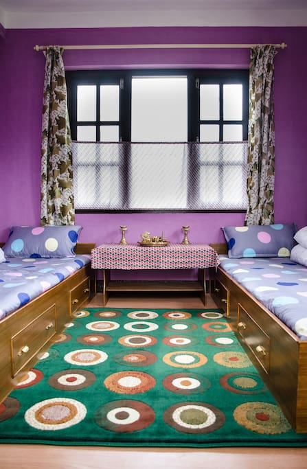 This room is named Puja Jwalon room as it consists the Puja set itself on this room. The beauty of this room is, can have a great view to snow capped mountains in a sunny day.