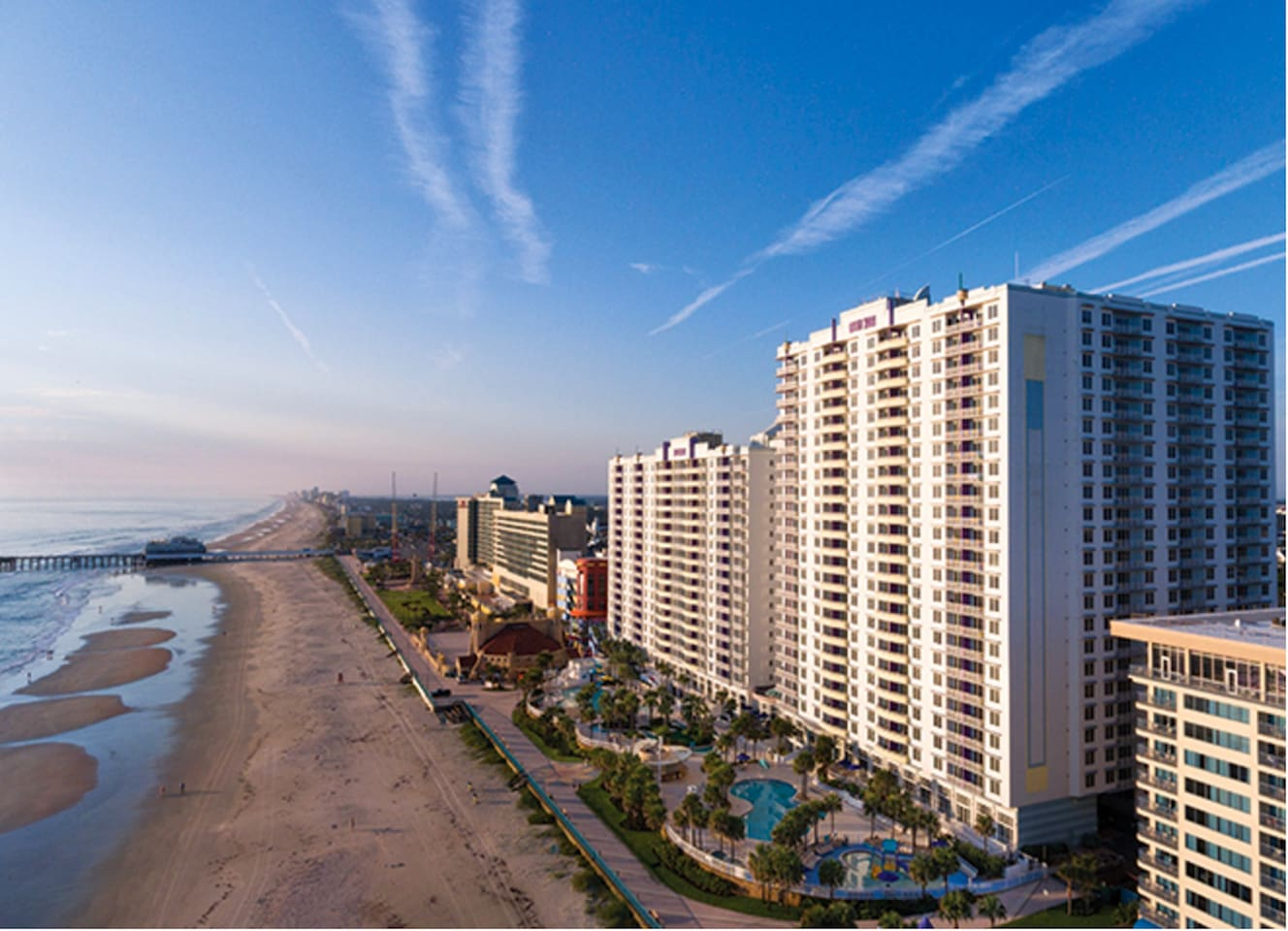 Your 2-bedroom, 2-bathroom vacation condo is located only a short walk-away from the beach