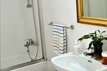 Bathroom with tube