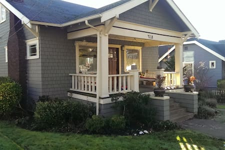 Fully-renovated charming Seattle home with parking for 2 cars. Adult master bedroom upstairs with full luxury bath. Children bunk-bed room with full bath on main floor. 2 guest bedrooms and attached 1/2 bath downstairs. Full-family ready!