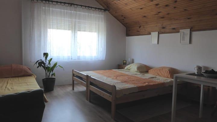 Cosy room +bathroom in quiet area