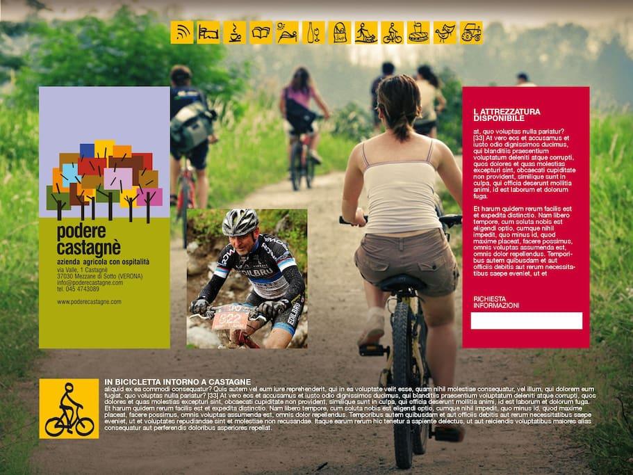 Un tour in bici e quello che ci vuole per visitare la lessinia fina la lago di Garda.
