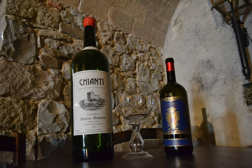 Chianti in our wine cellar