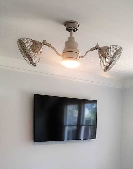 Big Screen TV & Free WIFI. Plus 3 Smart TVs in each Becroom and the Rotating Ceiling Fan you will love