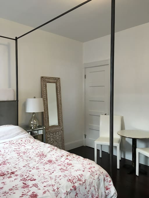 Ample closet space in the bedroom. Bedroom measures 12x12.