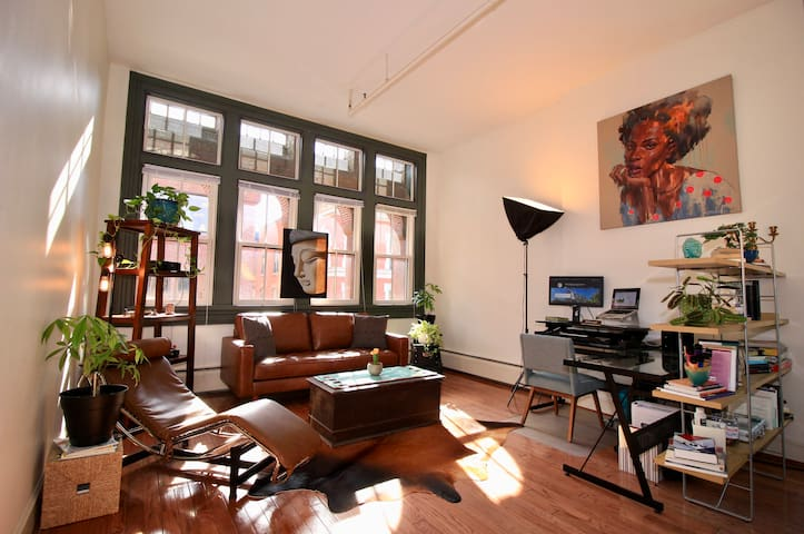 Sunny & Spacious Downtown Loft