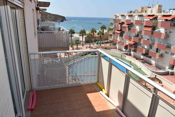 Apartamento junto a la playa en Puerto de Mazarrón