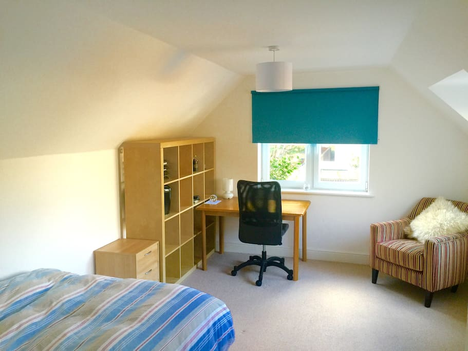 Bedroom two - double bed with desk