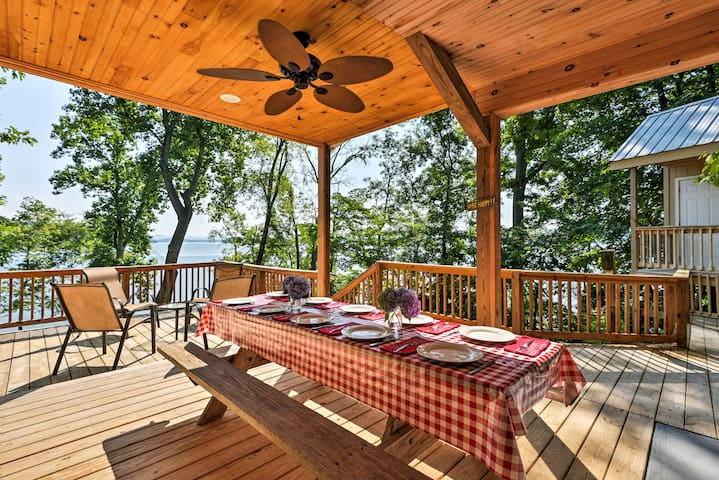 NEW! Lakefront 4BR Rutledge Cabin w/ Private Dock!