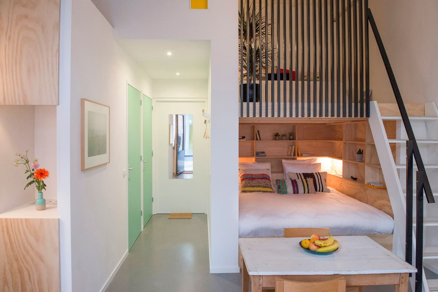 Welcome to the NachtMuseum, a cozy mini-loft in a converted industrial space, for 1-4 people