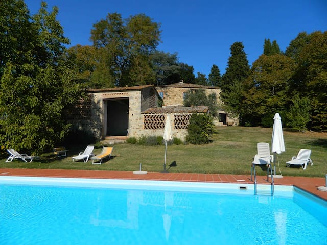 Country house with pool and loggia and barbecue