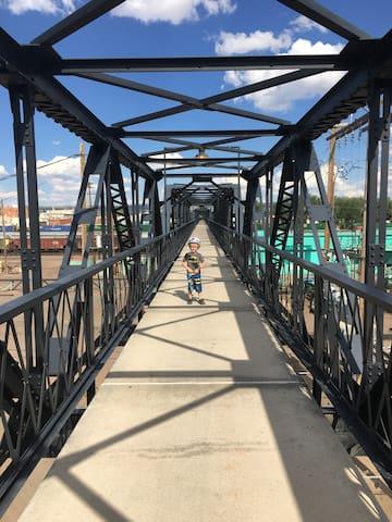 Downtown Train Bridge to West Laramie