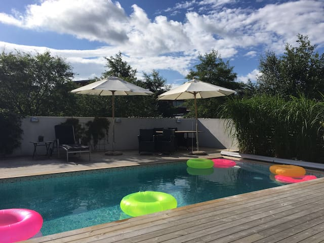 Terraced House with pool near beach and city - Helsingborg