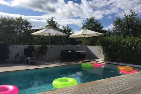 Terraced House with pool near beach and city - Helsingborg - Townhouse