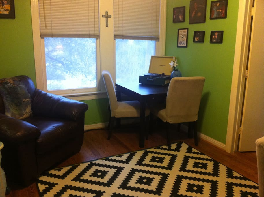 Dining room/ study/ piano room